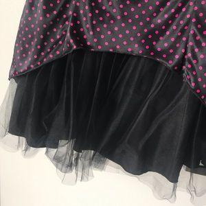 Ruby Rox Dresses - Pink & black polka dot formal dress
